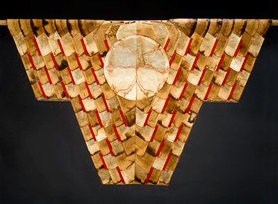Kimono made from coffee filters 15